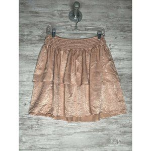 Beltaine Tiered Ruffled Mini Skirt Pink Size L